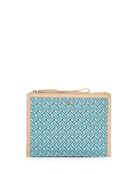 Cole Haan Signature Weave Medium Clutch Bag Aqua Haze