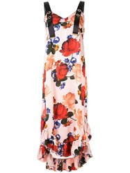 Mother Of Pearl Florence Dress With Crossback Straps Pink