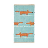 Scion Mr Fox Towel Aqua Hand Towel