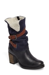 Bos. And Co. Women's Borne Waterproof Boot Deep Blue Dark Brown