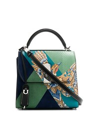 Salvatore Ferragamo Boxyz Bird Motif Tote Bag 60