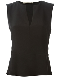 Etro Sleeveless V Neck Blouse Black
