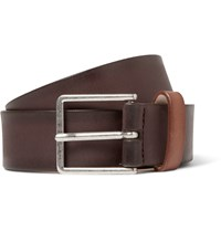 Paul Smith 3Cm Brown Burnished Leather Belt Brown