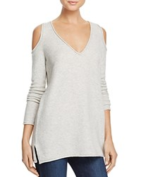 French Connection Venture Vhari Cold Shoulder Sweater Dove Grey Mel