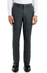 Men's Topman Slim Fit Grey Suit Trousers