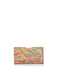 Milly Geo Rainbow Frame Small Cork Clutch Multi Gold