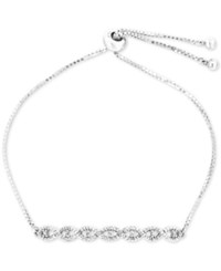 Wrapped Diamond Twist Slider Bracelet 1 4 Ct. T.W. In Sterling Silver Only At Macy's