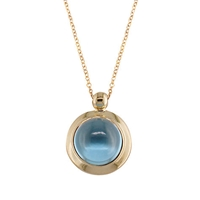 London Road Pimlico Bubble 9Ct Rose Gold Pendant Topaz