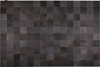 Modloft Laser Lines Hide Rug Black