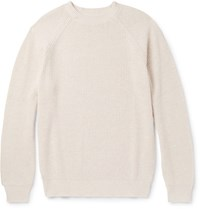 Brunello Cucinelli Slim Fit Cotton Sweater Cream