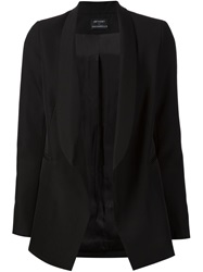 Anthony Vaccarello Shawl Lapel Blazer Black