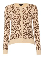 Therapy Leopard Print Cardigan Multi Coloured