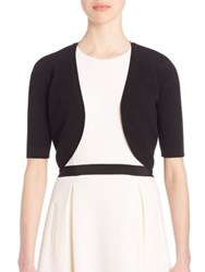 Michael Kors Stretch Knit Shrug Suntan Black