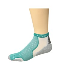 Thorlos Experia No Show Single Pair Re Teal Therapy No Show Socks Shoes Green