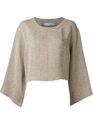 Dusan Wide Sleeve Top Nude And Neutrals