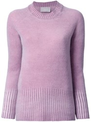 Drumohr Round Neck Jumper Pink Purple