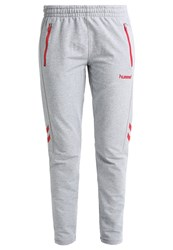 Hummel New Nostalgia Tracksuit Bottoms Grey Melange