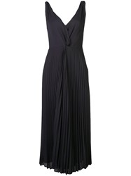 Vince Pleated Midi Dress Black