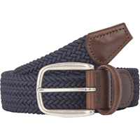 Barneys New York Woven Elastic Belt Navy