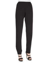 Caroline Rose Travel Gabardine Slim Pants Black Women's