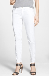 Eileen Fisher Stretch Denim Ankle Skinny Jeans White Regular And Petite