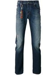 7 For All Mankind Beaded Charm Jeans Blue