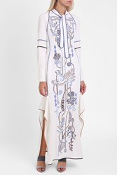 Peter Pilotto Cady Embroidered Gown White