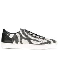 Dolce And Gabbana Sparkly Printed Sneakers Black