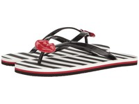 Alice Olivia Carly Black Rubber Red Patent