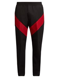 Givenchy Contrast Stripe Wool Twill Track Pants Black Multi
