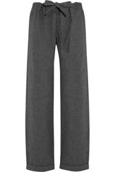 Bodas Montana Herringbone Brushed Cotton Pajama Pants Dark Gray