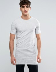 Only And Sons Muscle Fit Longline T Shirt Grey