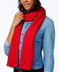 Tommy Hilfiger Heidi Knit Scarf Only At Macy's Chili Pepper