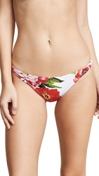 Milly St. Lucia Bikini Bottoms Red Multi