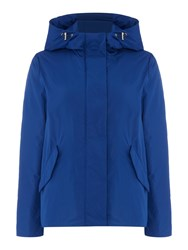 Gant Lightweight Showerproof Hooded Jacket Blue