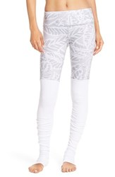 Alo Yoga Women's Alo 'Goddess' Ribbed Leggings Palm Springs Neutral White