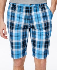 Inc International Concepts Men's Eddie Plaid Shorts Only At Macy's Bluepoint
