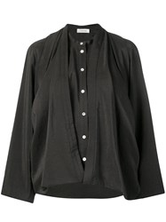 Christophe Lemaire Loose Fit Blouse Brown
