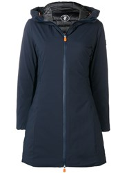 Save The Duck Padded A Line Coat Blue