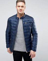 Selected Homme Quilted Jacket Navy