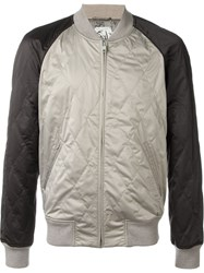 Marc Jacobs Quilted Bomber Jacket Nude And Neutrals