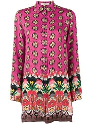 Etro Printed Long Sleeve Shirt Pink And Purple