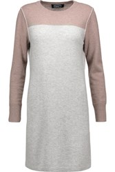 Magaschoni Two Tone Cashmere Mini Dress Stone