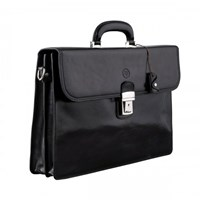Maxwell Scott Bags Black Leather Briefcases For Men
