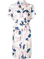 Julien David Printed Shirt Dress White