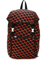 Z Zegna Pentagon Print Backpack Red