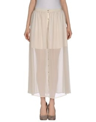 Joie Long Skirts Ivory