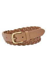 Women's Fossil 'Mystery Braid' Leather Belt