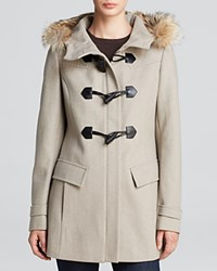 Marc New York Fur Trimmed Erin Toggle Coat Oatmeal