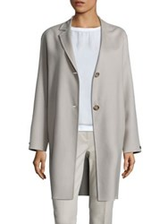Peserico Loro Piana 2 Button Coat Beige